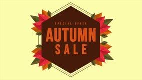 Animação do dia do outono da promoção do disconto da compra ilustração do vetor