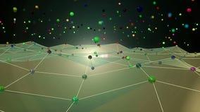 Animação do espaço da rede vídeos de arquivo