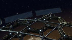 Animação do espaço de uma estrutura de favo de mel de giro ilustração royalty free