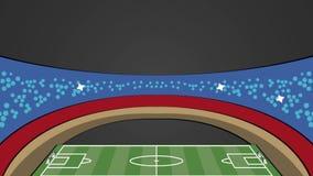 Animação do estádio HD do campo de futebol ilustração do vetor