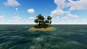 Animação do fundo da ilha video estoque