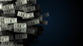 Animação do fundo do dinheiro do dólar ilustração stock