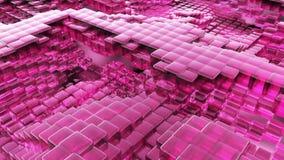Animação do líquido de vidro roxo da onda com reflexões animados Animação de Loopable video estoque