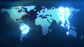 Animação do mapa do mundo de Digitas ilustração do vetor