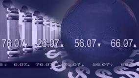 Animação do mercado de valores de ação ilustração do vetor