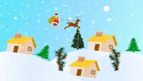 Animação do Natal ilustração stock