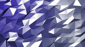 Animação do polígono na luz - fundo roxo do movimento ilustração stock