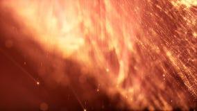 animação do sumário do laço 3d de partículas do fulgor com profundidade de campo, de bokeh e de raios claros para o fundo ou o vj filme