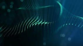 animação do sumário do laço 3d de partículas do fulgor com profundidade de campo, de bokeh e de raios claros para o fundo ou o vj video estoque