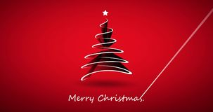 Animação do vídeo do feriado do Feliz Natal filme