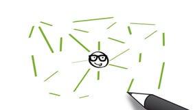 Animação do whitboard dos povos dos trabalhos em rede filme