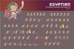 Animação egípcia Sprite do caráter do jogo do faraó Imagens de Stock Royalty Free