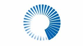 Animação - espiral azul Foto de Stock Royalty Free
