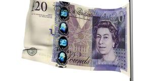 Animação esterlina da bandeira 3d Imagem de Stock Royalty Free