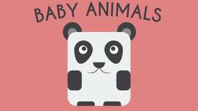 Animação feliz grande do animal do bebê do urso de panda vídeos de arquivo