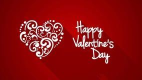 Animação feliz 4k do cumprimento do dia de Valentim (4096x2304) video estoque
