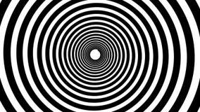 Animação hipnótica espiral Dar laços preto e branco video estoque