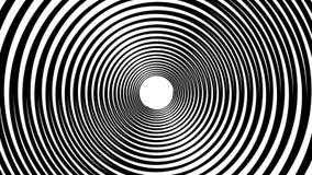Animação hipnótica espiral Dar laços preto e branco animation ilustração royalty free