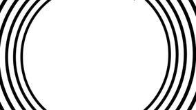 Animação hipnótica espiral Dar laços preto e branco animation ilustração stock