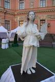Animação histórica dos atores do castelo mikhailovsky (da engenharia) imagens de stock royalty free