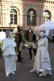 Animação histórica dos atores do castelo mikhailovsky (da engenharia) fotografia de stock