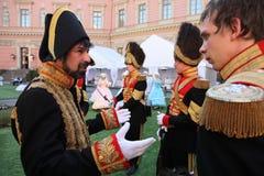 Animação histórica dos atores do castelo mikhailovsky (da engenharia) imagem de stock