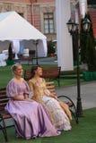 Animação histórica dos atores do castelo mikhailovsky (da engenharia) fotos de stock royalty free