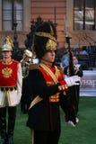 Animação histórica dos atores do castelo mikhailovsky (da engenharia) foto de stock royalty free