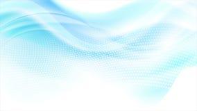 Animação pontilhada lisa azul abstrata do vídeo das ondas ilustração royalty free
