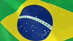 Brasil animação bandeira realista. ilustração stock