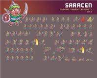 Animação sarraceno Sprite do caráter do jogo Fotos de Stock Royalty Free