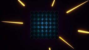 Animação sem emenda do fundo abstrato do cubo ilustração do vetor