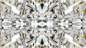 Animação sem emenda do fundo gráfico geométrico colorido abstrato do caleidoscópio do movimento da forma do cristal ou do espelho ilustração stock