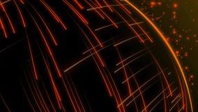 Animação sem emenda do tiro abstrato do raio do raio laser da luz alaranjada no teste padrão de alta velocidade do fundo ilustração do vetor