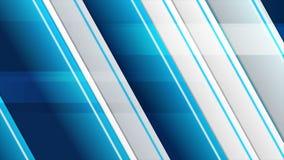 Animação video abstrata cinzenta azul das listras geométricas ilustração royalty free