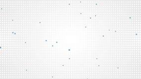 Animação video abstrata pequena dos quadrados cinzentos e azuis ilustração stock