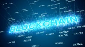 Animação video da rede do blockchain filme