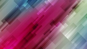 Animação video geométrica abstrata colorida ilustração stock