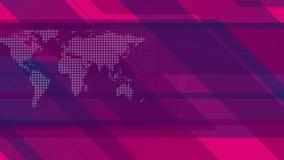 animação video geométrica da Olá!-tecnologia com mapa do mundo ilustração royalty free