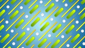 Animação video geométrica mínima abstrata colorida ilustração royalty free