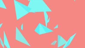 Animação video mínima abstrata brilhante das formas poligonais ilustração do vetor