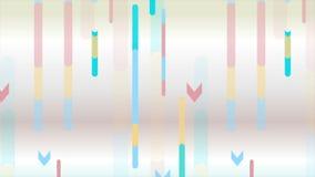 Animação video mínima geométrica colorida do sumário ilustração royalty free