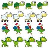 Animações de passeio do animal. Imagens de Stock Royalty Free