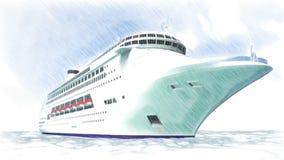 Animações luxuosas do navio 3d vídeos de arquivo