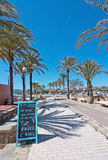 Anima beach bar next to bicycle route Royalty Free Stock Photo