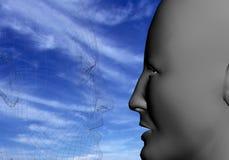 Anima del cielo blu Fotografia Stock