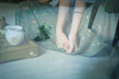 Anima di tè verde Fotografie Stock Libere da Diritti