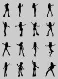 Anima gils silhouette Stock Image