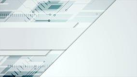Animación abstracta azul gris del vídeo de la tecnología