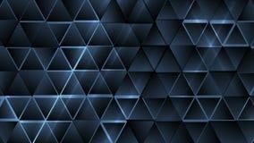 Animación abstracta azul marino del vídeo de los triángulos de la tecnología ilustración del vector